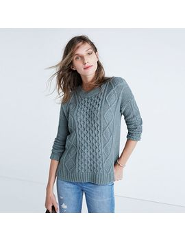 Shoptagr | Classic Cable Pullover Sweater by Madewell