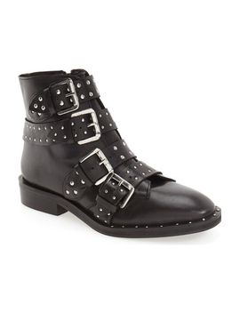 amy-studded-buckle-bootie by topshop