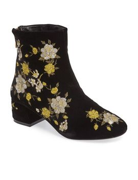 blossom-embroidered-bootie by topshop