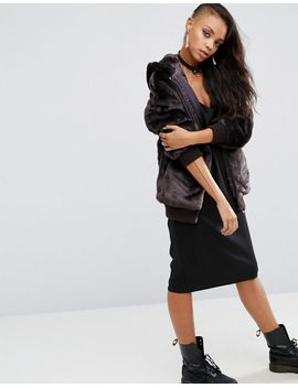 asos-oversized-bomber-jacket-with-hood-in-faux-fur by asos-collection
