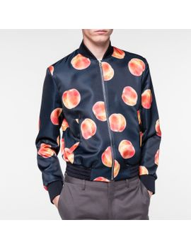 Men's Navy Photographic 'peaches' Print Bomber Jacket by Paul Smith