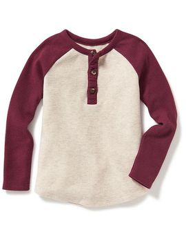 color-block-thermal-henley-for-toddler by old-navy