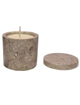 Medium Grey Marble Candle   Jasmine Scent by Joyus