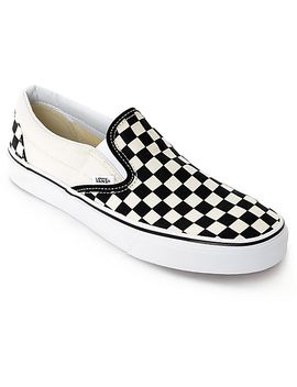 vans-slip-on-black-&-white-checkered-skate-shoes by vans