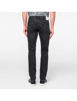 Men's Slim Standard Dark Wash Black Jeans by Paul Smith