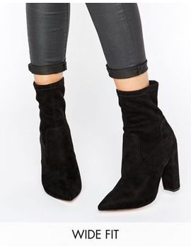 asos-elba-wide-fit-pointed-sock-boots by asos-collection