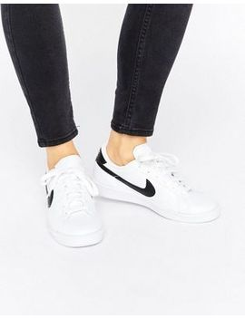 nike-tennis-classic-sneakers-in-white-and-black by nike