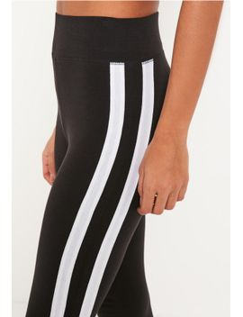 black-white-stripe-side-leggings by missguided