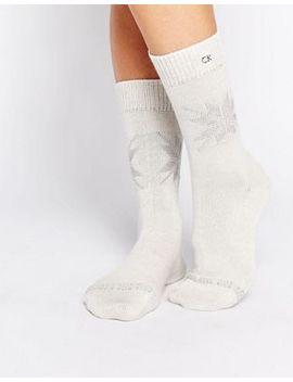 calvin-klein-christmas-snowflake-crew-socks by calvin-klein
