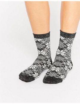 asos-christmas-glitter-fairisle-socks by asos-collection