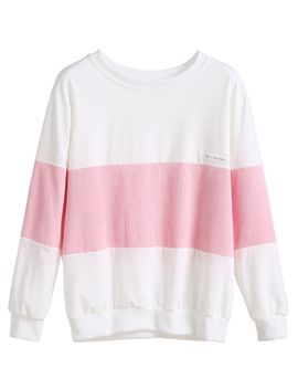color-block-patch-sweatshirt by romwe