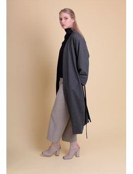 maya-grey-longline-coat by no-brand-name