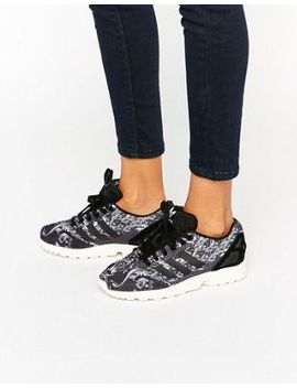 adidas-originals-x-farm-paisley-print-zx-flux-trainers by adidas