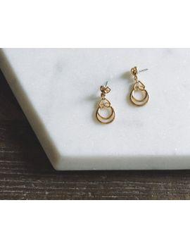 1980s-vintage-miniature-chandelier-drop-gold-earrings by pinkcoconutvintage
