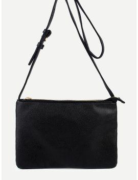 black-zip-closure-two-layer-flat-crossbody-bag by romwe