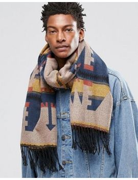 asos-blanket-scarf-in-navy-aztec by asos