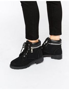 park-lane-chunky-lace-up-flat-boots by asos