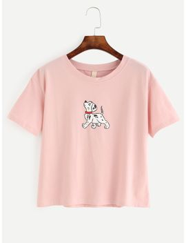 pink-dog-print-t-shirt by romwe