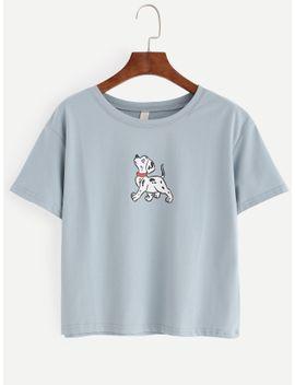 blue-dog-print-t-shirt by romwe