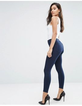 asos-rivington-high-waist-denim-jeggings-in-bee-blackened-blue by asos-collection