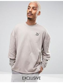 puma-double-sleeve-crew-sweatshirt-in-beige-exclusive-to-asos by puma