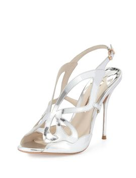 madame-butterfly-100mm-sandal,-silver by sophia-webster