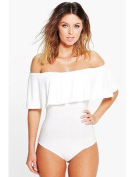 millie-slinky-off-the-shoulder-s_s-bodysuit by boohoo