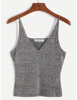 heather-grey-spaghetti-strap-knit-vest by romwe