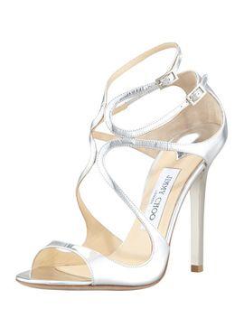lang-metallic-strappy-sandal by jimmy-choo