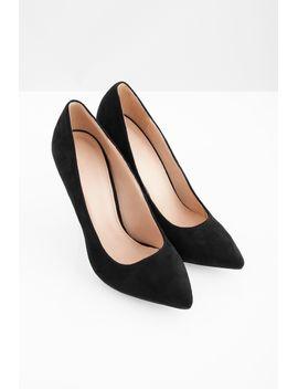 ediva-black--suede-heels by tobi