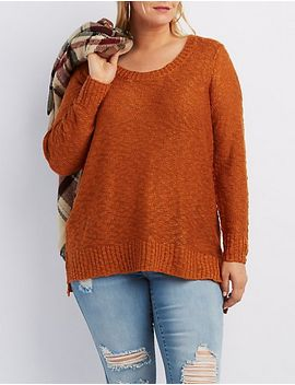 plus-size-slub-knit-scoop-neck-sweater by charlotte-russe