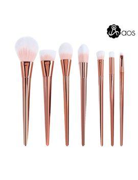 7-pcs-metal-make-up-brushes-set-rose-gold-powder-foundation-contour-makeup-tools by ebay-seller