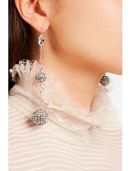 silver-tone-crystal-earrings by isabel-marant
