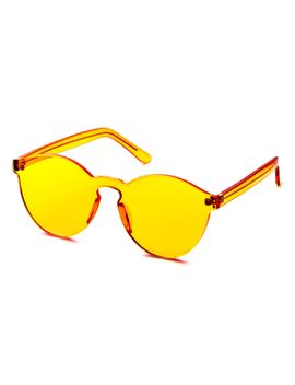 orange-clear-one-piece-retro-style-sunglasses by romwe