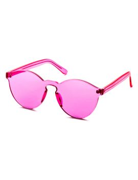 pink-clear-one-piece-retro-style-sunglasses by romwe
