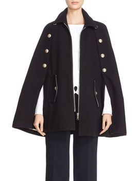 wool-blend-military-cape by see-by-chloÉ