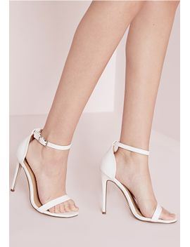 white-barely-there-strappy-heeled-sandals by missguided
