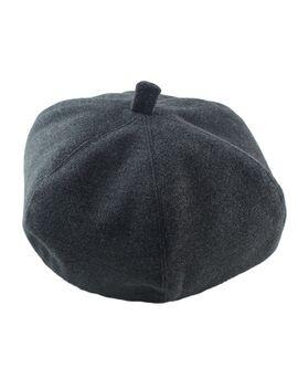new-fashion-soild-darkgray-wollen-lady-topper-winter-hat by romwe