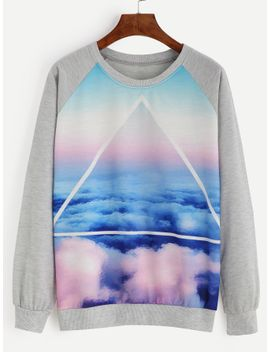 heather-grey-cloud-sky-print-raglan-sleeve-sweatshirt by romwe