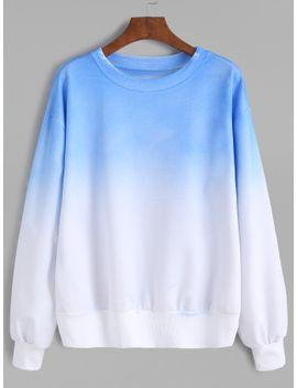 ombre-drop-shoulder-sweatshirt by romwe