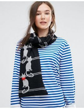 alice-hannah-cat-with-stripe-scarf by alice-hannah