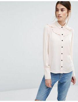 vero-moda-ruffle-detail-shirt by vero-moda