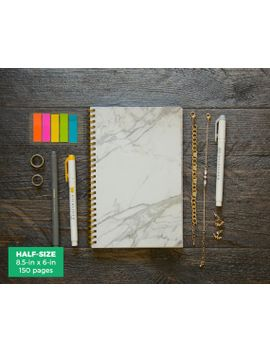marble-planner-_-weekly-_-half-size-_-12-months-_-choose-your-layout-(vertical-or-horizontal)-_-pick-your-own-starting-month by ruskerville