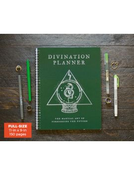 divination-planner---green--_-weekly-_-full-size-_-12-months-_-choose-your-layout-(vertical-or-horizontal)-_-pick-your-starting-month by ruskerville