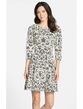 jacquard-fit-&-flare-dress by eliza-j