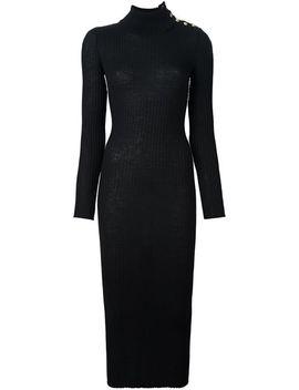 turtleneck-maxi-dress by balmain