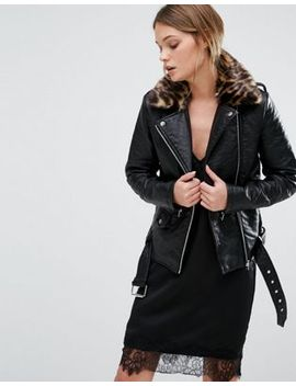 new-look-leather-look-biker-jacket-leopard-print-collar by new-look
