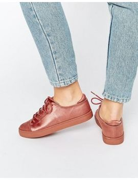 asos-darley-clean-lace-up-trainers by asos-collection