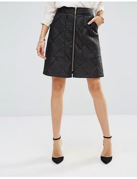 closet-quilted-zip-front-skirt by closet