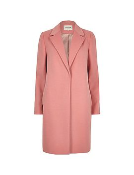 pink-tailored-overcoat by river-island